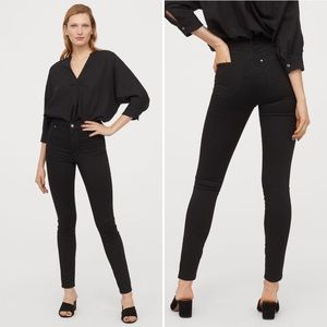 H&M Super Skinny High Jeggings, Black